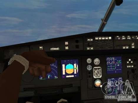 Airbus A340-300 Air Canada para GTA San Andreas vista traseira