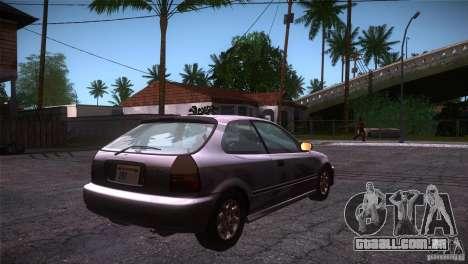 Honda Civic Tuneable para GTA San Andreas vista direita