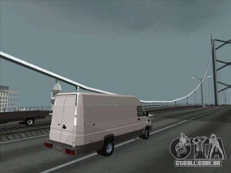 Iveco TurboDaily 35-10 para GTA San Andreas esquerda vista