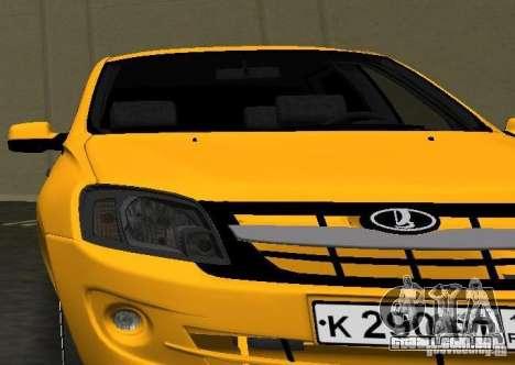 Lada Granta v2.0 para GTA Vice City vista traseira
