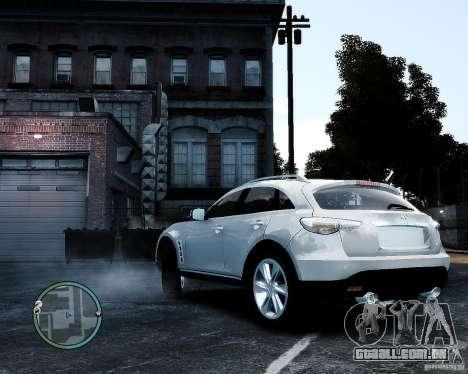 Infiniti FX50 para GTA 4 esquerda vista