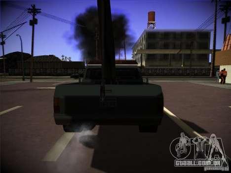 Caminhão de reboque de Sadler para GTA San Andreas traseira esquerda vista