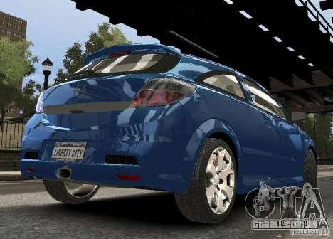 Opel Astra OPC para GTA 4 vista direita
