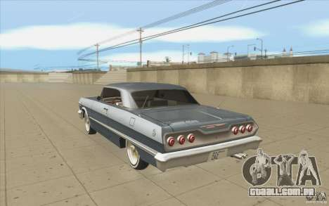 Voodoo para GTA San Andreas traseira esquerda vista