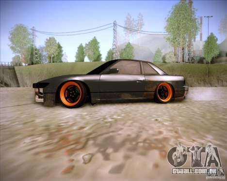 Nissan Silvia S13 Under Construction para GTA San Andreas esquerda vista