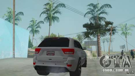 Jeep Grand Cherokee SRT8 2013 para GTA San Andreas esquerda vista