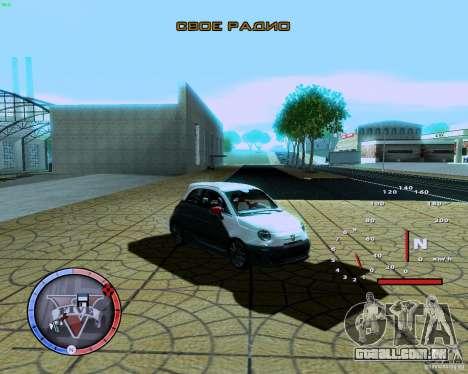 Fiat 500 Abarth para GTA San Andreas esquerda vista