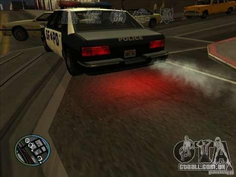 GTA IV LIGHTS para GTA San Andreas por diante tela