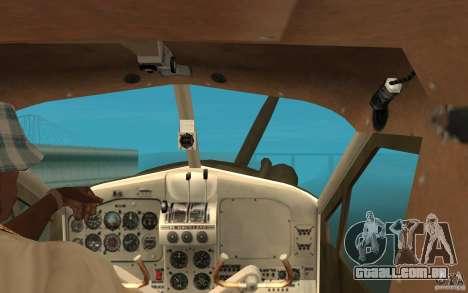 De Havilliand Beaver DHC2 para GTA San Andreas vista interior