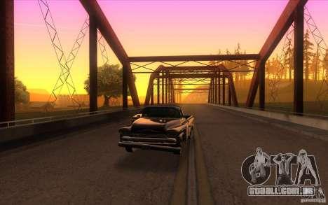 Chevrolet Apache Fleetside 1958 para GTA San Andreas vista traseira
