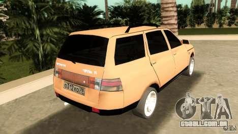 VAZ 2111 para GTA Vice City vista traseira esquerda