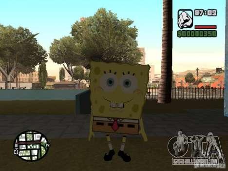 Sponge Bob para GTA San Andreas sexta tela