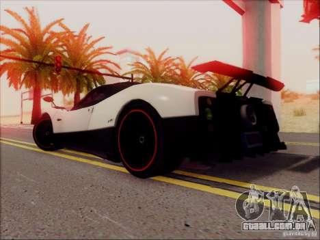 Pagani Zonda Cinque para GTA San Andreas vista direita