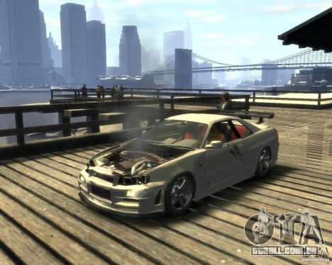 Nissan Skyline GT-R34 Nismo para GTA 4 traseira esquerda vista
