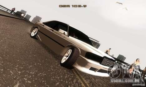 Mercedes-Benz 190E V2.0 para GTA San Andreas vista traseira