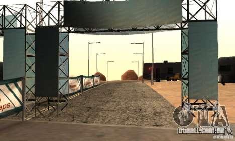 Faixa à deriva, o Big Ear v1 para GTA San Andreas segunda tela