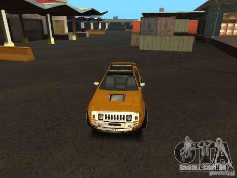 Hummer H0 para GTA San Andreas vista direita