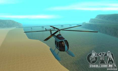 Nova Seaspar para GTA San Andreas vista interior