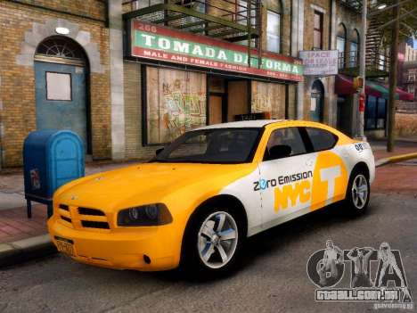 Dodge Charger NYC Taxi V.1.8 para GTA 4 esquerda vista