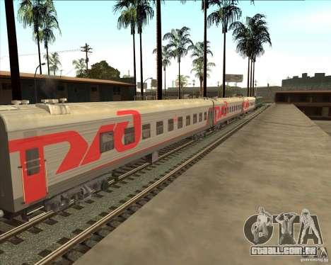 Carro de passageiro RZD para GTA San Andreas