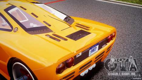 Mc Laren F1 LM v1.0 para GTA 4 vista interior