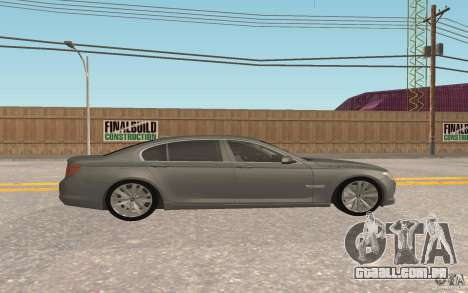 BMW 730d para GTA San Andreas vista interior