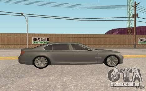 BMW 730d para GTA San Andreas vista interior