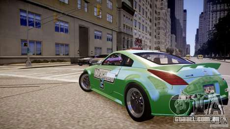 Nissan 350Z Underground 2 Style para GTA 4 traseira esquerda vista