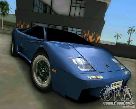Lamborghini Diablo para GTA Vice City vista traseira esquerda