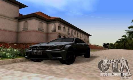 Mercedes-Benz C63 AMG para GTA San Andreas esquerda vista