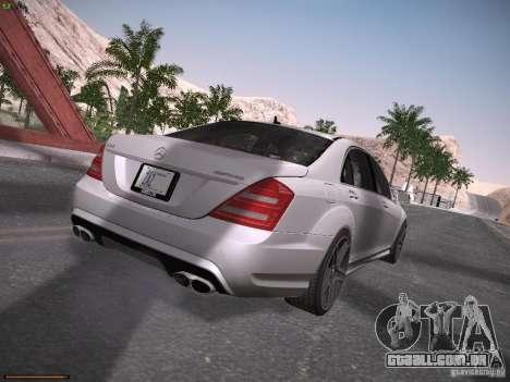 Mercedes Benz S65 AMG 2012 para GTA San Andreas vista direita