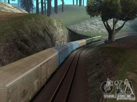 2te10u-0238 para GTA San Andreas vista traseira