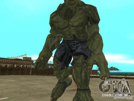 Hulk Skin para GTA San Andreas terceira tela
