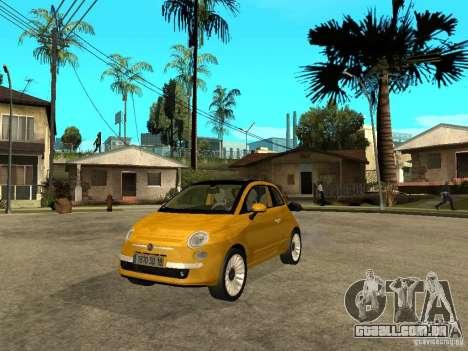Fiat 500 C para GTA San Andreas