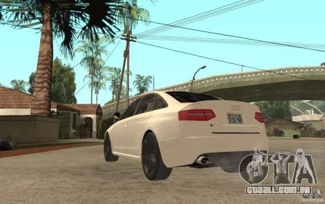 Audi RS6 2009 para GTA San Andreas traseira esquerda vista