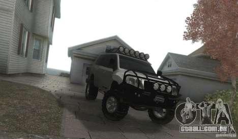 Toyota Land Cruiser 200 Off Road v1.0 para GTA San Andreas vista traseira