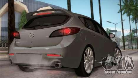 Mazda Mazdaspeed3 2010 para vista lateral GTA San Andreas
