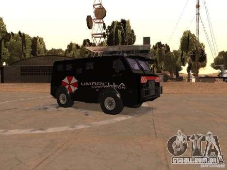 AM 7.0 Umbrella Corporation para GTA San Andreas vista interior