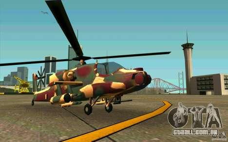 Hunter Armee Look para GTA San Andreas esquerda vista