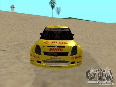 Suzuki Rally Car para GTA San Andreas vista traseira