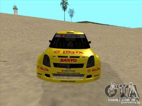 Suzuki Rally Car para GTA San Andreas vista traseira