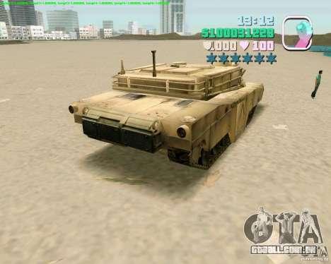 M 1 A2 Abrams para GTA Vice City quinto tela