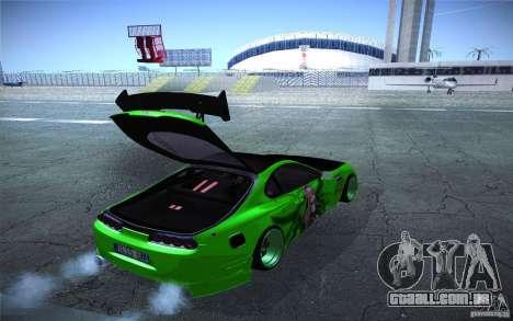 Toyota Supra Tuned para GTA San Andreas vista interior