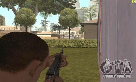 Kalashnikov modernizado para GTA San Andreas por diante tela
