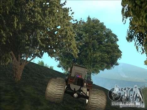Monsterous Truck para GTA San Andreas traseira esquerda vista