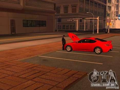 Hyundai Genesis Coupé 3.8 Track v 1.0 para GTA San Andreas vista inferior