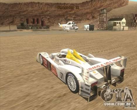 Audi R10 TDI para GTA San Andreas esquerda vista