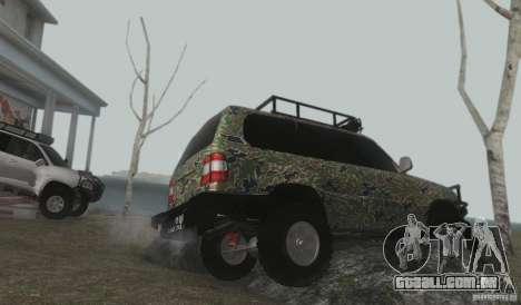 Toyota Land Cruiser 100 Off Road para GTA San Andreas vista interior