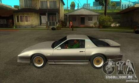 Pontiac Trans AM 1987 para GTA San Andreas esquerda vista