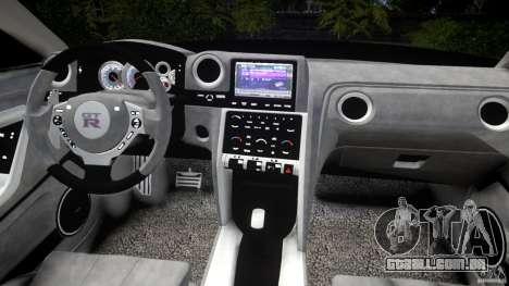 Nissan GTR R35 v1.0 para GTA 4 vista superior